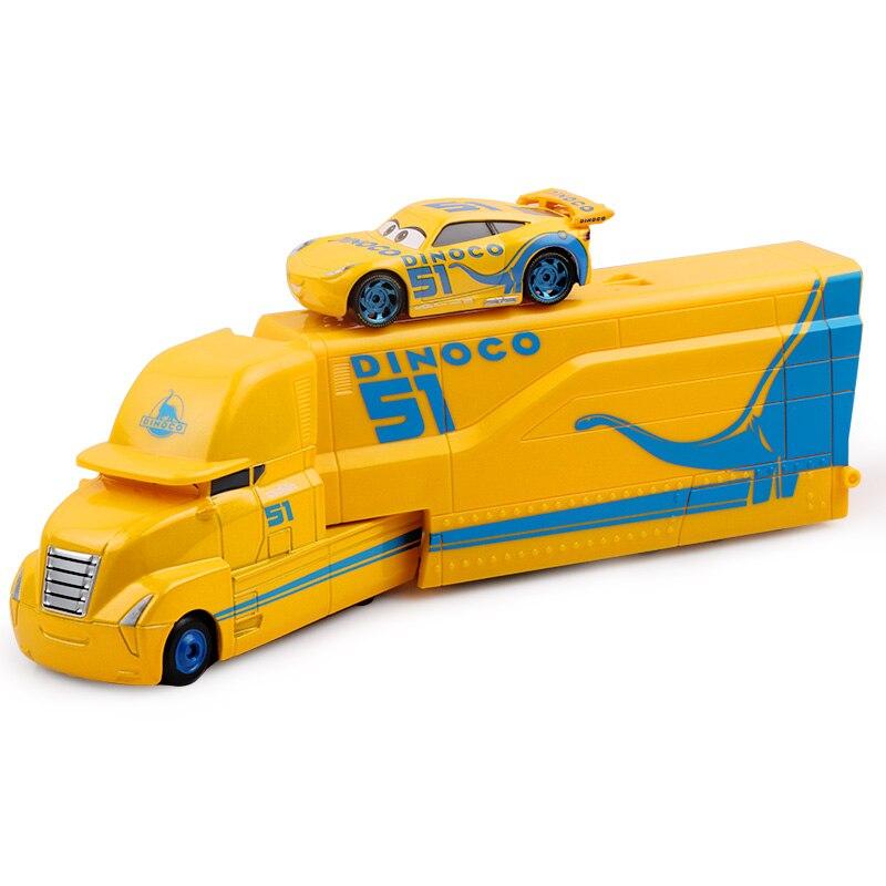 Дисней Pixar Тачки 2 3 игрушки Молния Маккуин Джексон шторм мак грузовик 1:55 литая под давлением модель автомобиля для детей рождественские подарки - Цвет: Two cars 5