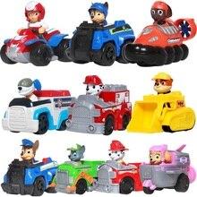 Щенячий патруль, Щенячий патруль, Patrulla Canina, игрушки, фигурки, модель игрушки, Чейз, marshall, Райдер, автомобиль, детская игрушка из натуральной кожи