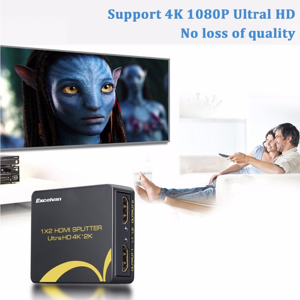 Aliexpress Com Buy Excelvan Cl720 Full Hd Home Theater: Aliexpress.com : Buy Excelvan HDMI Splitter Full HD 1080p