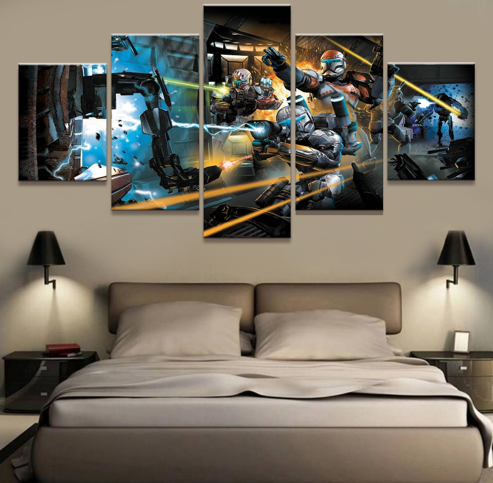 online buy wholesale star wars canvas art from china star wars 5 piece canvas art picture star wars movie modern decorative paintings on canvas wall art for