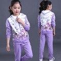 Hot sale детские спортивные костюмы высокого качества из двух частей 5 лет до 15 лет девушки комплектов одежды для весна осень одежда для подростков спортивный костюм женщины