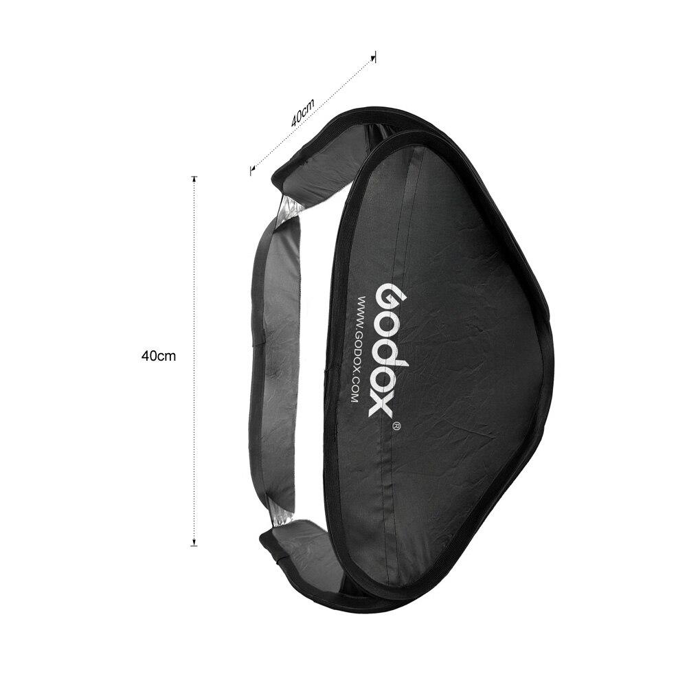 Godox 40 40cm 15 15 Softbox Diffuser with S type Bracket Bowens Holder for Speedlite Flash