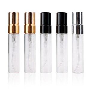 Image 5 - 50 Pezzi/lottp 5ML Personalizzabile Scatole di Carta E di Vetro Bottiglia di Profumo Con Atomizzatore Vuoto Parfum Imballaggio LOGO PERSONALIZZATO per il regalo