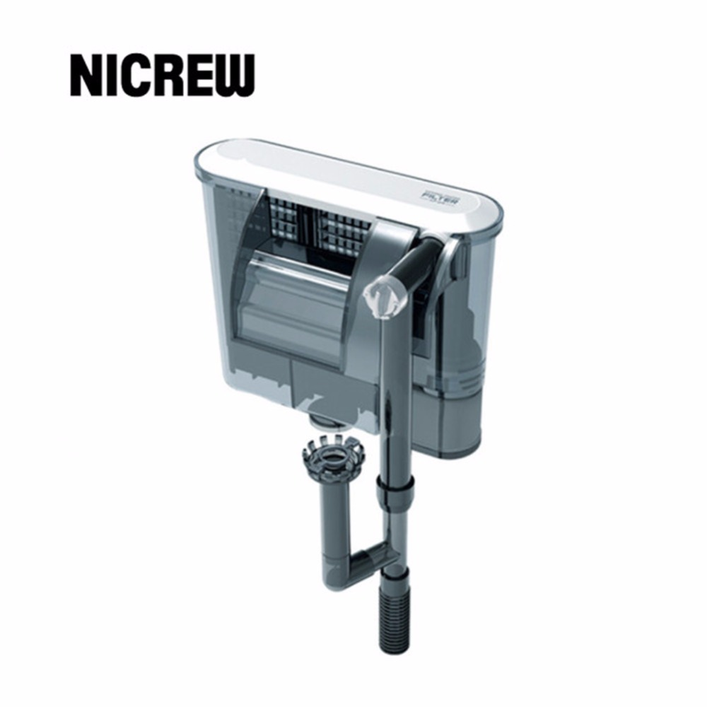 Nicrew xp 05 09 11 13 aquarium filter box waterfall water for Water pump filter box