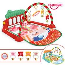 Huanger детские развивающие игры мягкий игровой коврик влаговпитывающий ковер для ребенка свинья музыка Ползания развивающая стойка для фитнеса ковер ребенок младенец Tapi игрушка