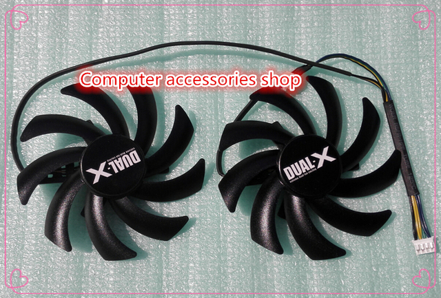 New original 85mm Firstd graphics card Dual-X Fan For Sapphire Radeon HD6970 HD7850 HD7870 HD7950 HD7970 FD7010H12S 12V 0.35A
