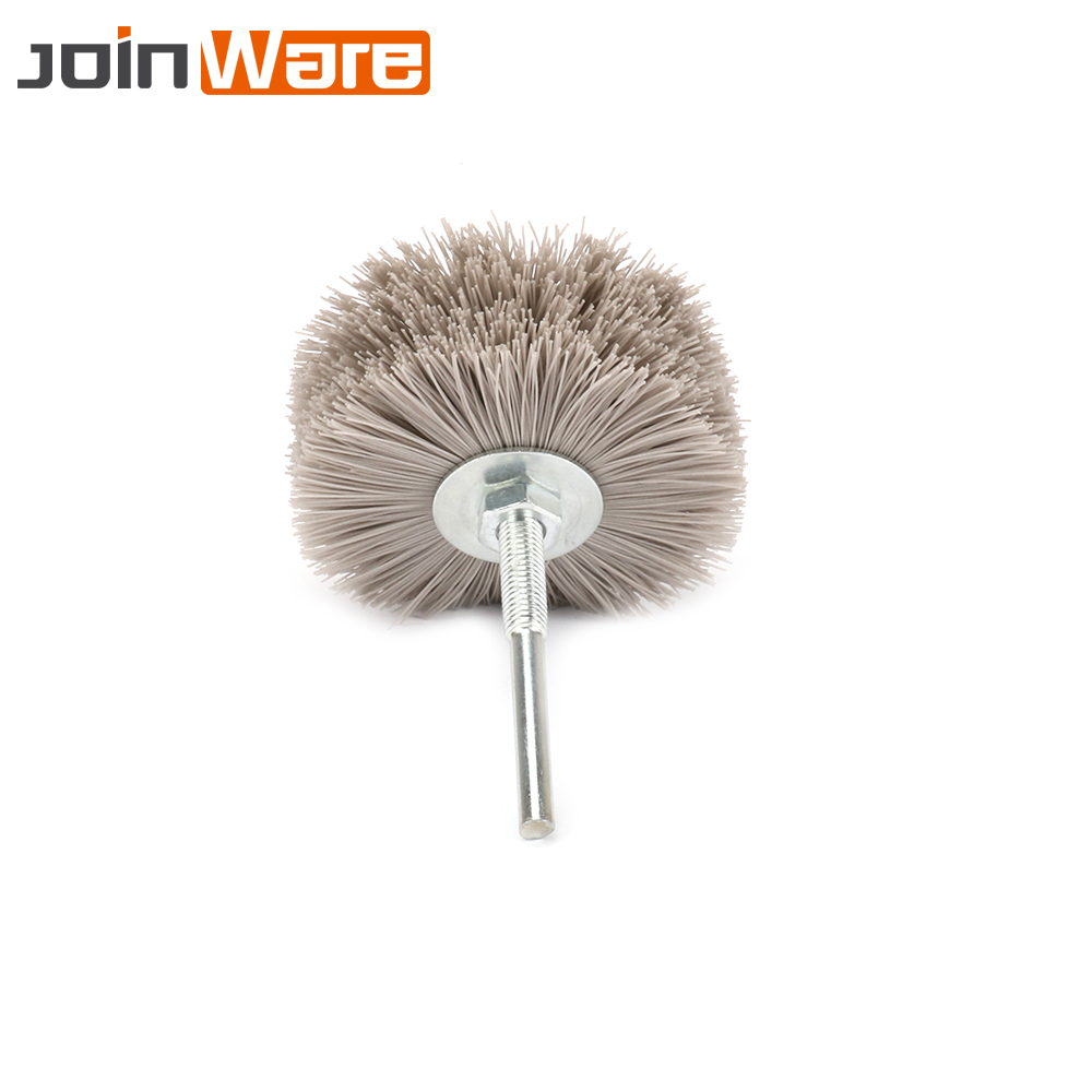 3Pcs Nylon Wire Brush Grinding Flower Head Abrasive Polishing Wheel Brush For Wood Furniture Mahogany 320/400/600# Grit