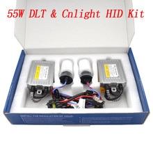 Cnlight DLT HID комплект фар 55 Вт Быстрый яркий HID Балласт реактор 4300 К 5000 К 6000 К Cnlight H7 H11 D2H H1 HID комплект ламп