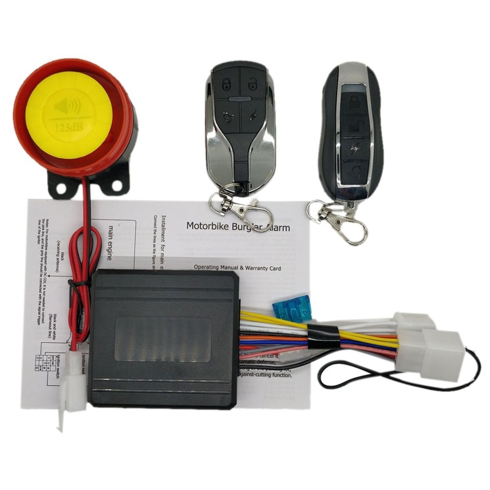 Universial 12V Motorcycle Alarm Security System Motorcycle Theft Protection Bike Moto Scooter Motor Alarm System
