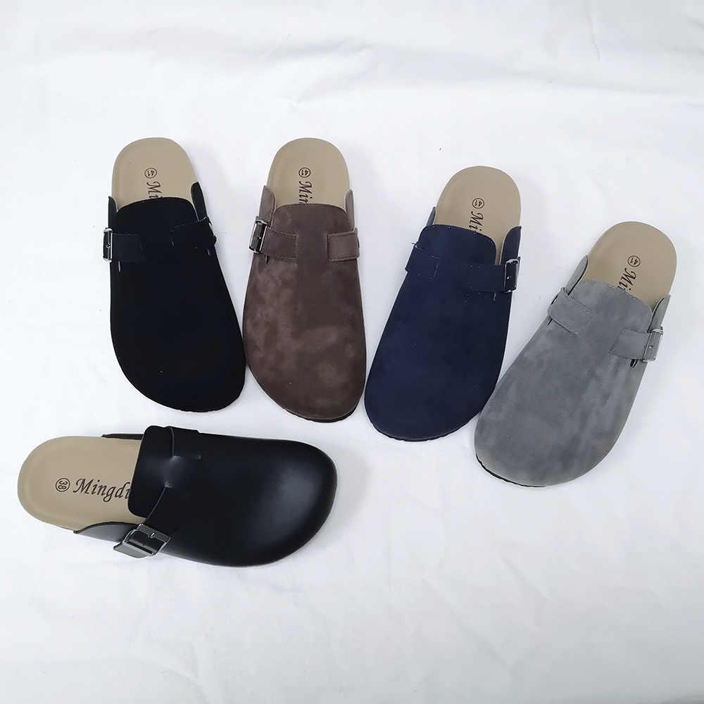 KINE PANDA/пара шлепанцев; женские мужские и взрослые пробковые сандалии; женские повседневные пляжные сандалии-гладиаторы на плоской подошве с пряжкой и ремешком; Размеры 35-44