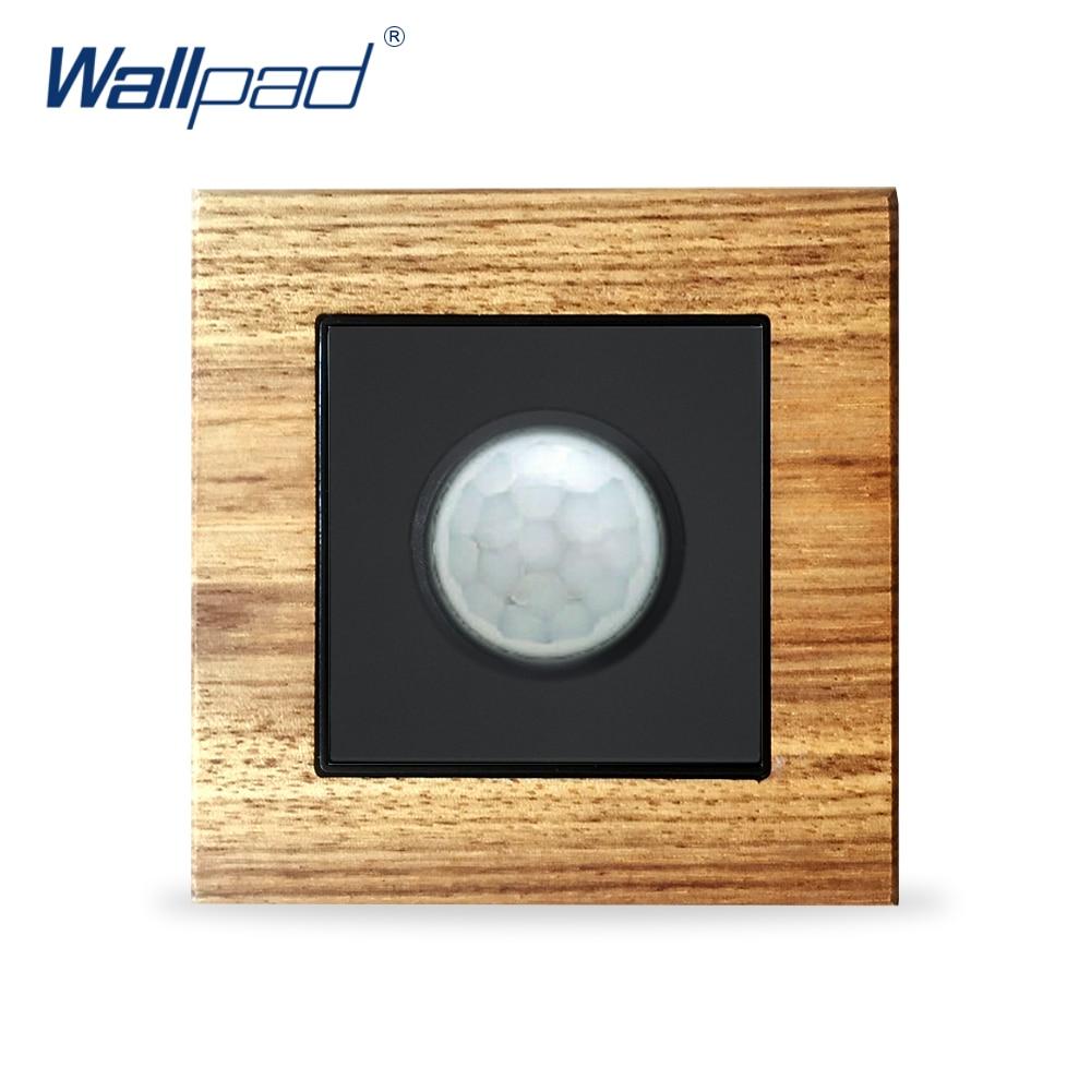 Menschlichen Körper Motion Sensor Schalter Wallpad Luxus Holz Panel Wand Licht Schalter Sensor Bewegung