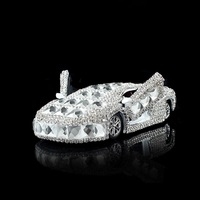 Luxury Crystals Car Interior Decoration Dashboard Ornament Sportscar Perfume Stand with Anti slip Mat Auto Air Freshener Gift