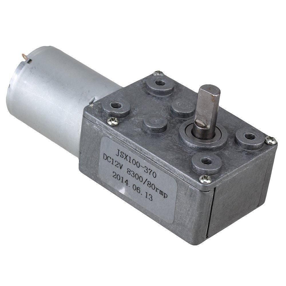 GW370 12V 80rpm High Torque Turbo Worm Right Angle Speed Reducer Motor DC Motor купить