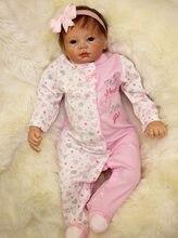 Bebé Reborn de silicona de cuerpo suave, juguete educativo para edades tempranas de 55 cm, ropa rosa de 22 pulgadas, juguetes para niños pequeños, regalos de cumpleaños y Navidad
