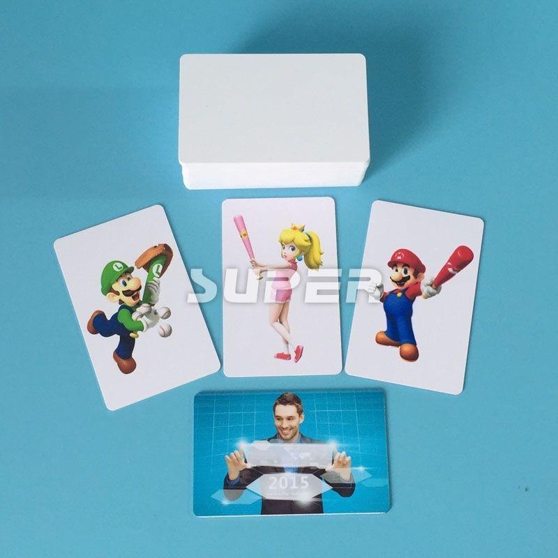 50 STÜCKE 86mm * 54mm Druckbare weiße PVC karten CR80/30mil kunststoffgeschäft ID karten wasserdicht und glänzend