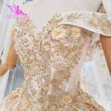 AIJINGYUงานแต่งงานชุดเจ้าสาวลูกไม้ผู้หญิงหมั้นLuxury VintageราคาถูกMade In China Plusขนาดชุด2021งานแต่งงานเว็บไซต์