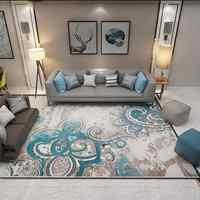 Tapis géométrique européen d'impression classique pour des petits tapis de cuisine de mode de tapis de sol anti-dérapant de chambre à coucher de salon