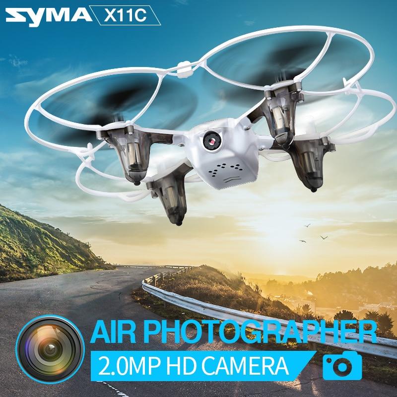 Syma X11C Drone With 2.0MP HD Camera 4CH 2.4GHz Remote Control Quadcopter Mini RC Helicopter Drone Aircraft Toys yc folding mini rc drone fpv wifi 500w hd camera remote control kids toys quadcopter helicopter aircraft toy kid air plane gift