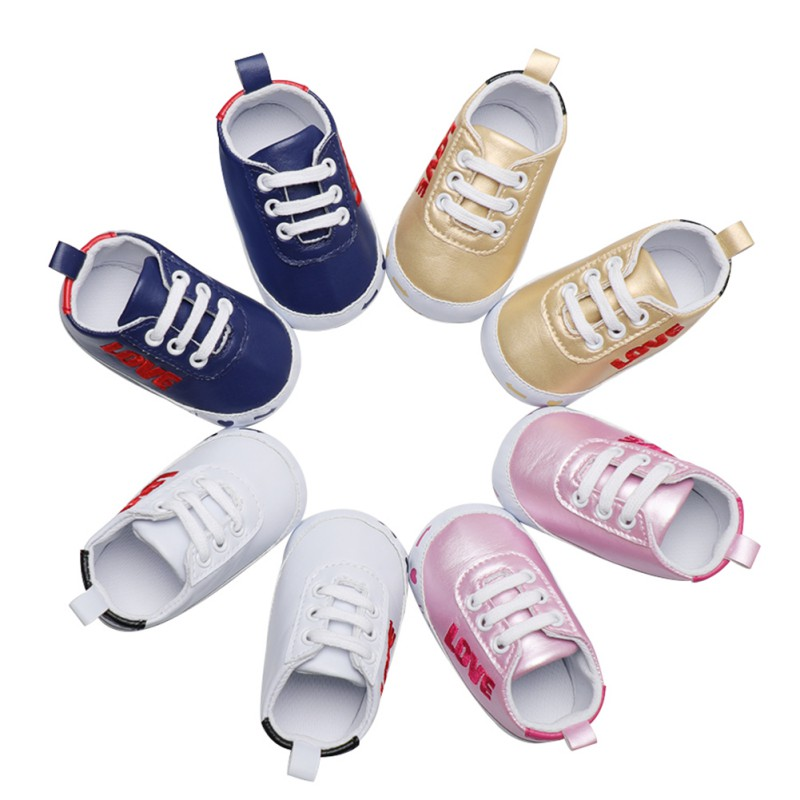 Weixinbuy First Walker Baby Kids Fashion Sport Shoes Newborn Leather Print Toddler Shoes Casual For 6-18M