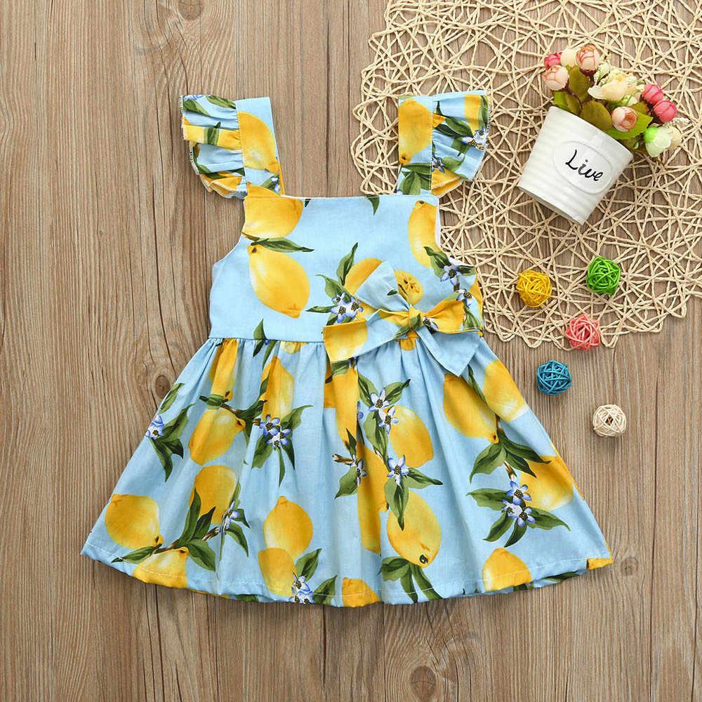 ARLONEET/платье для маленьких девочек праздничные платья принцессы без рукавов с фруктами для девочек Повседневный Сарафан для девочек от 0 до 2 лет, Прямая доставка, 30S57