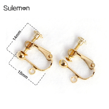 100pcs/Lot No Hole Ear Clips DIY Handmade Earrings Parts Screw Ear Clip Without Piercing Jewelry Findings Wholesale AS05 100