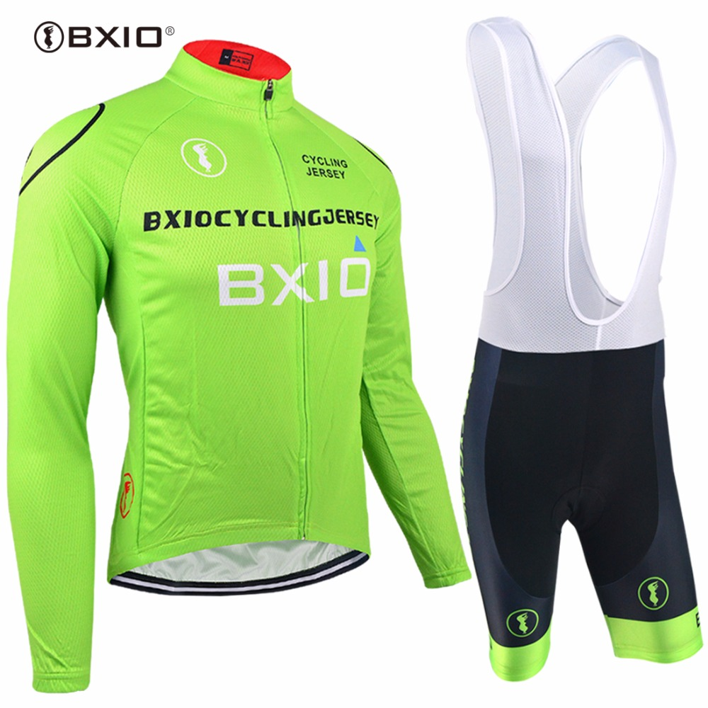 Bxio Pro Team Cycling Sets Ropa Ciclismo Hombre Verano Summer Green Bike Wear Cheap Cycle Clothing
