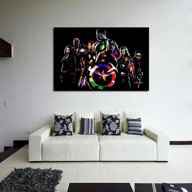 Painting New Modern Anime Colorful Art Picture Home Pattern Print Wall Decor