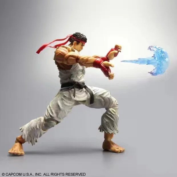 XINDUPLAN Play Arts Kai Super Street Fighter SF RYU White clothing Karate Action Figure Toys 22cm Gifts Collect Model Doll 0849 super street fighter iv akuma gouki white variant play arts kai action figure