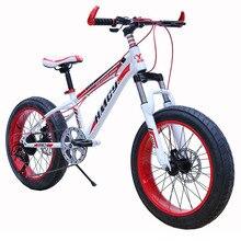 High Carbon Steel Frame 26 Inch Big Fat Tyre Mountain Snow Bike Bicycle 24 Speed Bicicleta Mountain Bike Double Dis Brake
