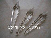 200 pcs/lot 80mm cristal prisme coupe, pièces de lustre en cristal, cristal prisme goutte pendentif pour pièces de lustre