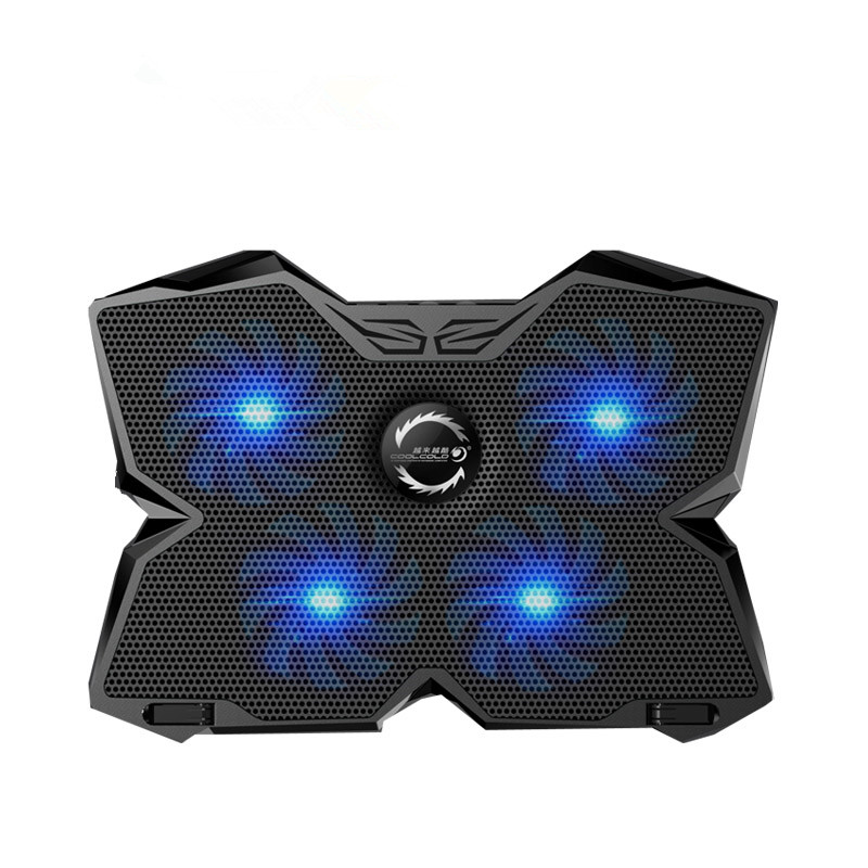 CoolCold Ice Magic 2 Cooler with 4 Silence Fans LED USB 2 0 Laptop Cooling Pad