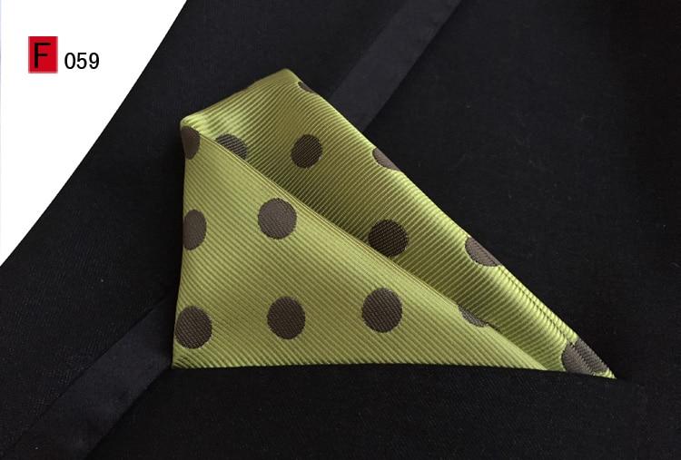 25x25cm Stylish Woven Pocket Square Designer's Dots Handkerchief