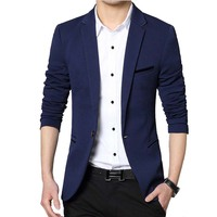 Men Casual Suit Business Style Fashion Design Men S Long Sleeve Slim Fit Suits Masculine Blazer