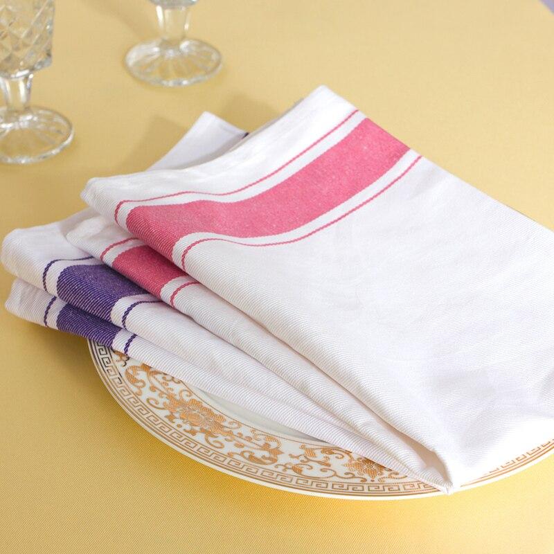 10pcs Cloth Dinner Table Napkins Square Pocket Handkerchief Serviette for Wedding Party Hotel Banquet Decor
