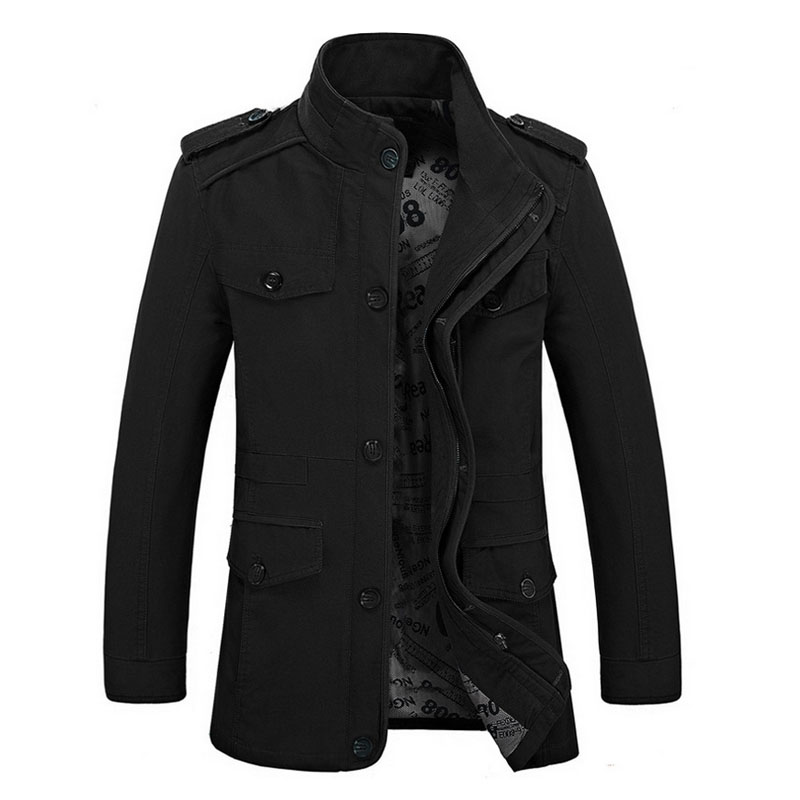 Popular Military Style Trench Coat Mens-Buy Cheap Military Style ...
