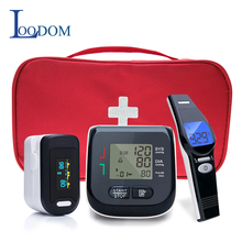 Loodom OLED Pulse Oximeters Baby Thermometer Wrist Blood Pressure Monitor Thermometro Oximetro De Dedo Blood pressure gift bag стоимость