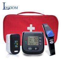 Loodom OLED Pulse Oximeters Baby Thermometer Wrist Blood Pressure Monitor Thermometro Oximetro De Dedo Blood pressure gift bag