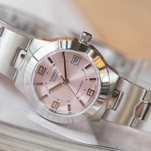 Image 2 - Casio relógio ponteiro série elegante quartzo, relógio feminino LTP 1241D 4A