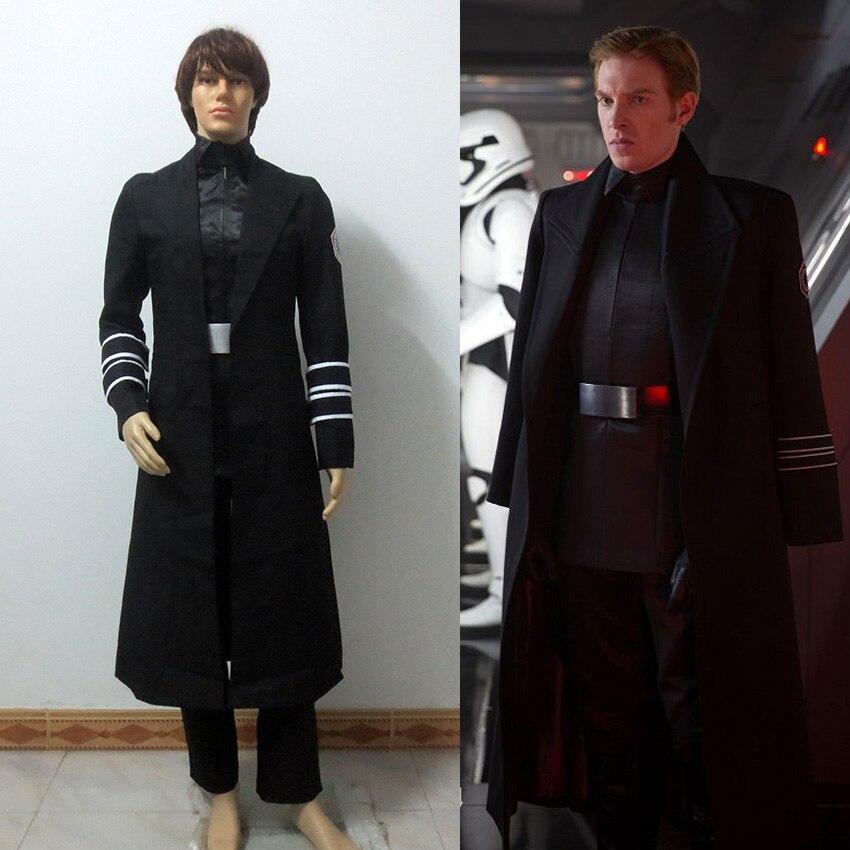 Star Wars la Force réveille le général Hux Costume de Cosplay Costume ensemble complet Costume de Cosplay Halloween