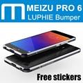 Meizu pro 6 armadura border bumper caso metal frame de alumínio luphie original para meizu pro6 estoque com frete adesivos pro6s