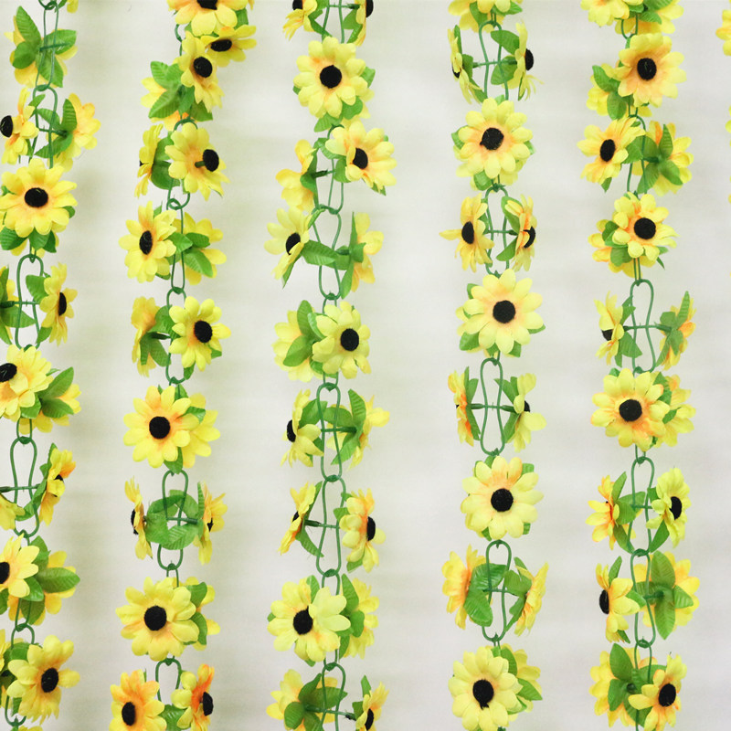 artificial flowers simulation flower cane wholesale Sunflower cane Sunflower cane home flowers decoration (19)