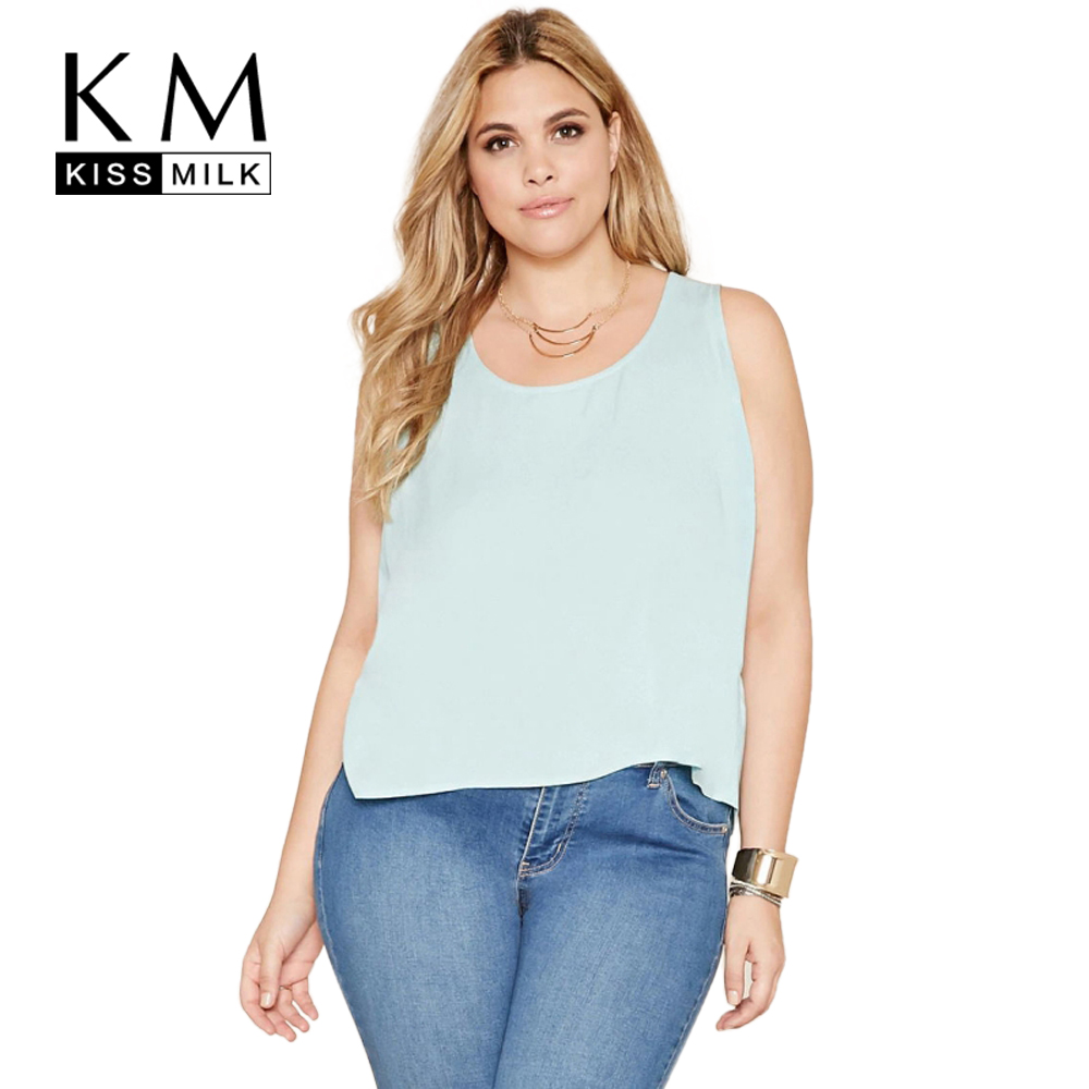 28445b201ec26 Kissmilk Plus Size New Fashion Women Clothing Casual Loose Backless ...