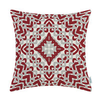 CaliTime Cushion Cover Pillow Shell Home Sofa Bed Decor Geometric Print Ivory Ground 45cmX45cm