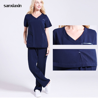 sanxiaxin surgical gown doctor clothing beauty salon overalls spa uniform medical uniforms scrub set lab coat scrubs clothing