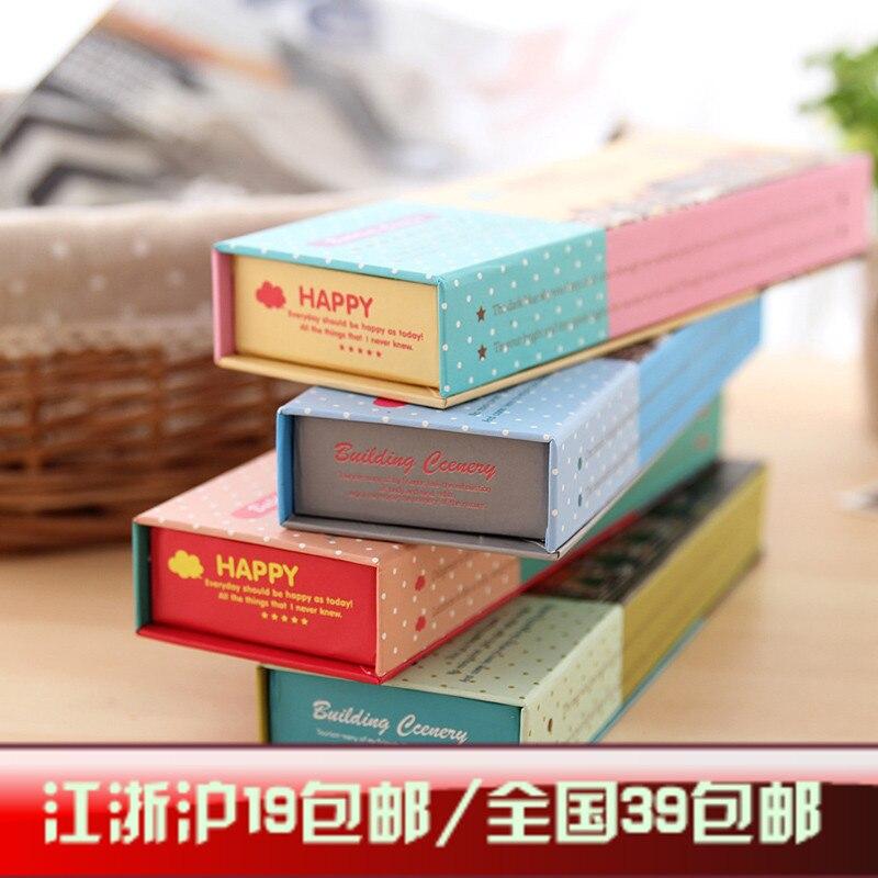 Stationery eurasian carton flip series pencil box stationery box