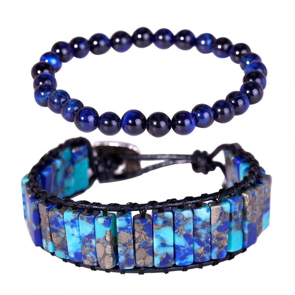 Radient Kralen Armbanden Voor Vrouwen Mannen Klassieke Natuursteen Elastische Vriendschap Armband Sieraden