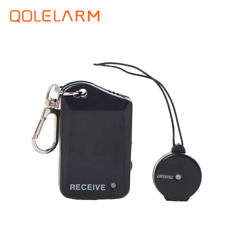 1pcs Safely Security Two Parts Vibration Purse To Rob Childrens Pet wallet Anti Lost Alarm Black with battery mini burglar alarm бумажник на шею acecamp security neck wallet