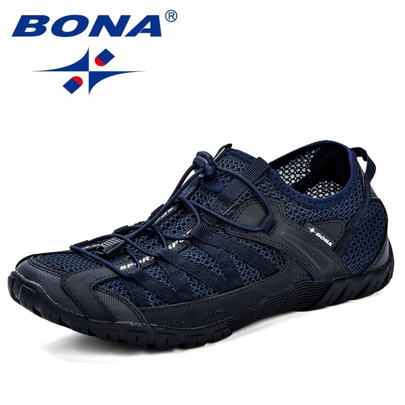 BONA Summer Sneakers Breathable Men Casual Shoes Fashion Men Shoes Tenis Masculino Adulto Sapato Masculino Men Leisure Shoe 3