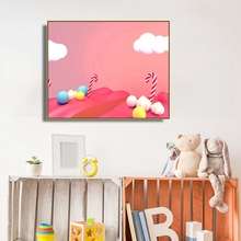 Candy World Cartoon Kids Wall Picture Poster & Print Girl Room Baby Modern Canvas Painting Children Art Mural
