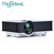 Unic uc40 + mini proyector pico proyector portátil proyector proyectores de cine en casa proyector multimedia uc40 av vga usb sd hdmi
